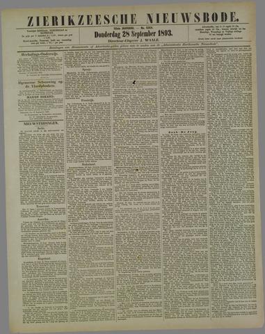 Zierikzeesche Nieuwsbode 1893-09-28