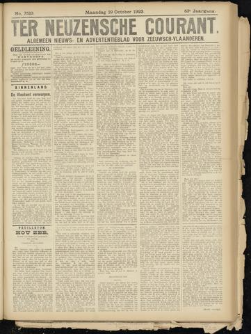 Ter Neuzensche Courant. Algemeen Nieuws- en Advertentieblad voor Zeeuwsch-Vlaanderen / Neuzensche Courant ... (idem) / (Algemeen) nieuws en advertentieblad voor Zeeuwsch-Vlaanderen 1923-10-29