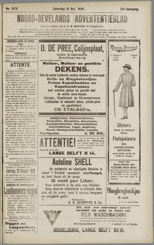 Noord-Bevelands Nieuws- en advertentieblad 1926-10-16