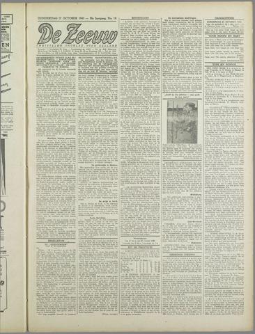 De Zeeuw. Christelijk-historisch nieuwsblad voor Zeeland 1943-10-21