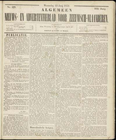 Ter Neuzensche Courant. Algemeen Nieuws- en Advertentieblad voor Zeeuwsch-Vlaanderen / Neuzensche Courant ... (idem) / (Algemeen) nieuws en advertentieblad voor Zeeuwsch-Vlaanderen 1870-06-15