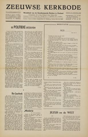 Zeeuwsche kerkbode, weekblad gewijd aan de belangen der gereformeerde kerken/ Zeeuwsch kerkblad 1956-08-10