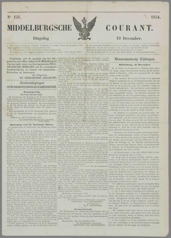 Middelburgsche Courant 1854-12-19