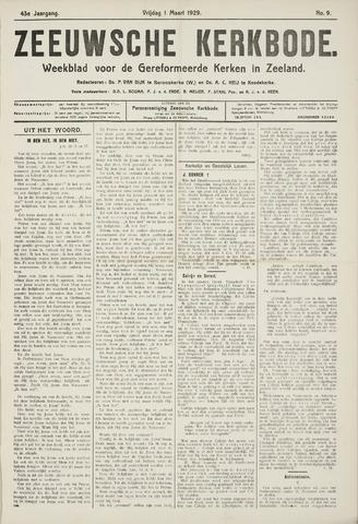 Zeeuwsche kerkbode, weekblad gewijd aan de belangen der gereformeerde kerken/ Zeeuwsch kerkblad 1929-03-01