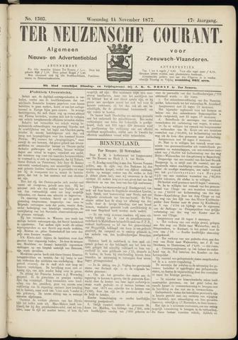 Ter Neuzensche Courant. Algemeen Nieuws- en Advertentieblad voor Zeeuwsch-Vlaanderen / Neuzensche Courant ... (idem) / (Algemeen) nieuws en advertentieblad voor Zeeuwsch-Vlaanderen 1877-11-14