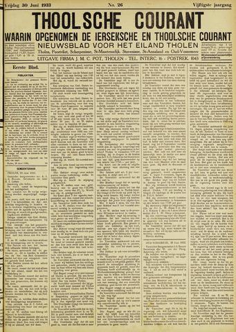 Ierseksche en Thoolsche Courant 1933-06-30