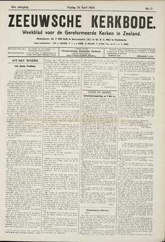 Zeeuwsche kerkbode, weekblad gewijd aan de belangen der gereformeerde kerken/ Zeeuwsch kerkblad 1929-04-26