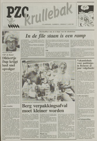 Provinciale Zeeuwse Courant katern Krullenbak (1981-1999) 1991-06-11