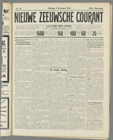 Nieuwe Zeeuwsche Courant 1915-02-09