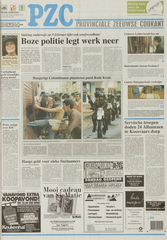 Provinciale Zeeuwse Courant 1999-01-30