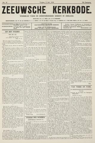 Zeeuwsche kerkbode, weekblad gewijd aan de belangen der gereformeerde kerken/ Zeeuwsch kerkblad 1938-07-08
