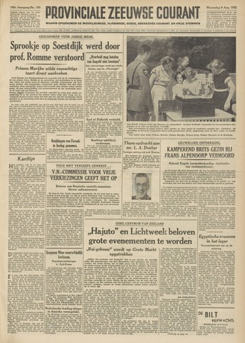 Provinciale Zeeuwse Courant 1952-08-06