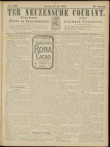 Ter Neuzensche Courant. Algemeen Nieuws- en Advertentieblad voor Zeeuwsch-Vlaanderen / Neuzensche Courant ... (idem) / (Algemeen) nieuws en advertentieblad voor Zeeuwsch-Vlaanderen 1912-07-27