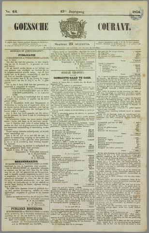 Goessche Courant 1856-08-25