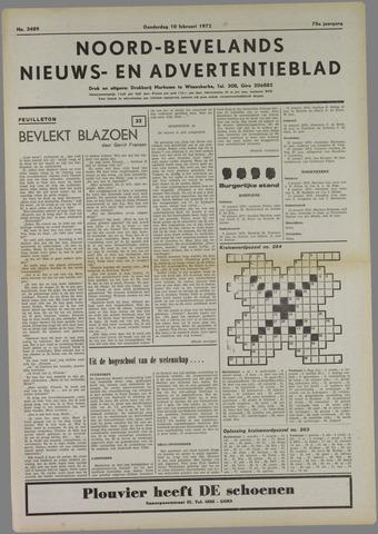 Noord-Bevelands Nieuws- en advertentieblad 1972-02-10