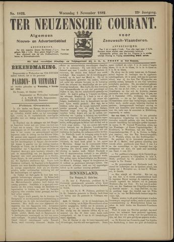 Ter Neuzensche Courant. Algemeen Nieuws- en Advertentieblad voor Zeeuwsch-Vlaanderen / Neuzensche Courant ... (idem) / (Algemeen) nieuws en advertentieblad voor Zeeuwsch-Vlaanderen 1882-11-01