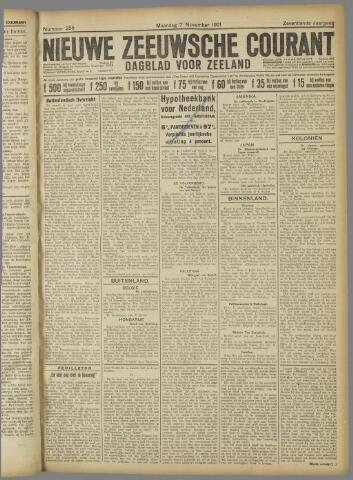 Nieuwe Zeeuwsche Courant 1921-11-07
