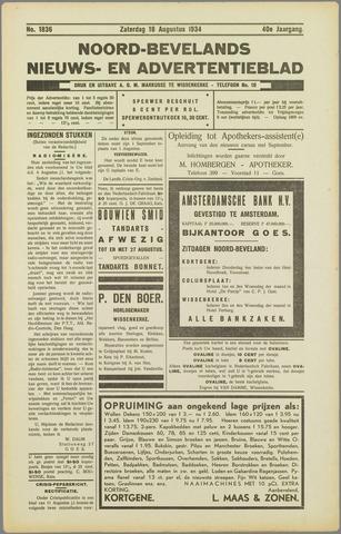 Noord-Bevelands Nieuws- en advertentieblad 1934-08-18