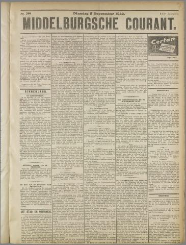 Middelburgsche Courant 1922-09-05