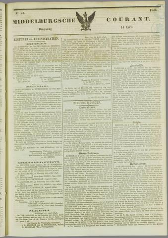 Middelburgsche Courant 1846-04-14