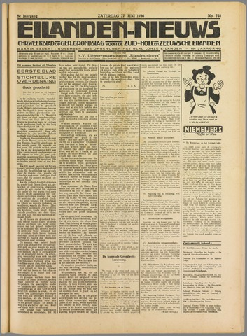Eilanden-nieuws. Christelijk streekblad op gereformeerde grondslag 1936-06-27