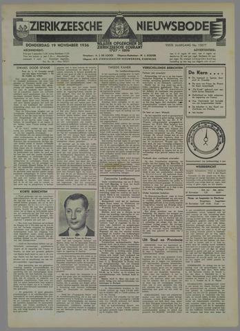 Zierikzeesche Nieuwsbode 1936-11-19