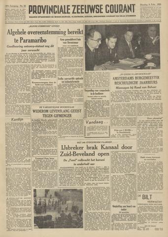 Provinciale Zeeuwse Courant 1954-02-09