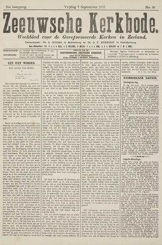Zeeuwsche kerkbode, weekblad gewijd aan de belangen der gereformeerde kerken/ Zeeuwsch kerkblad 1917-09-07