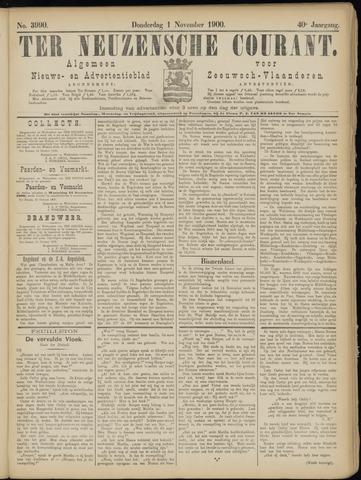 Ter Neuzensche Courant. Algemeen Nieuws- en Advertentieblad voor Zeeuwsch-Vlaanderen / Neuzensche Courant ... (idem) / (Algemeen) nieuws en advertentieblad voor Zeeuwsch-Vlaanderen 1900-11-01