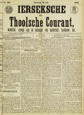 Ierseksche en Thoolsche Courant 1892-07-23