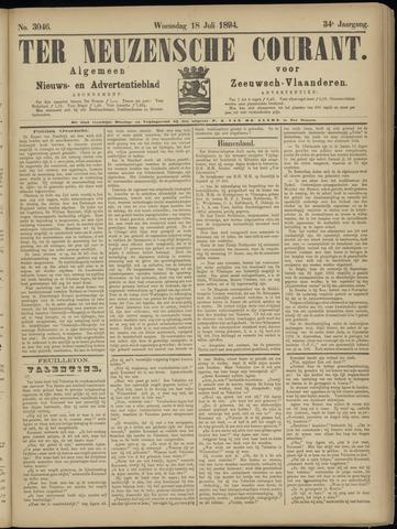 Ter Neuzensche Courant. Algemeen Nieuws- en Advertentieblad voor Zeeuwsch-Vlaanderen / Neuzensche Courant ... (idem) / (Algemeen) nieuws en advertentieblad voor Zeeuwsch-Vlaanderen 1894-07-18