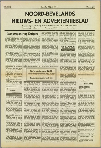 Noord-Bevelands Nieuws- en advertentieblad 1956-06-16