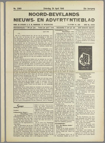Noord-Bevelands Nieuws- en advertentieblad 1948-04-24