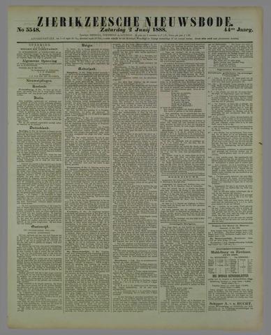 Zierikzeesche Nieuwsbode 1888-06-02