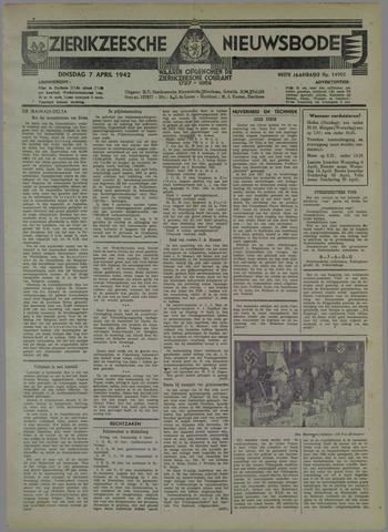 Zierikzeesche Nieuwsbode 1942-04-07