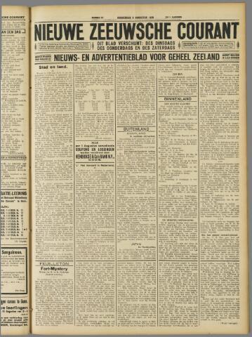 Nieuwe Zeeuwsche Courant 1929-08-08