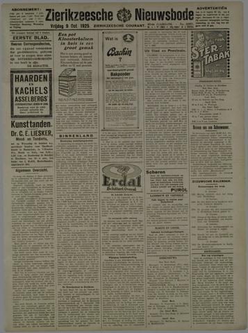 Zierikzeesche Nieuwsbode 1925-10-09
