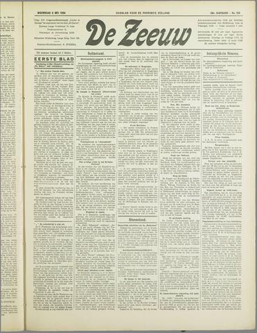 De Zeeuw. Christelijk-historisch nieuwsblad voor Zeeland 1934-05-09