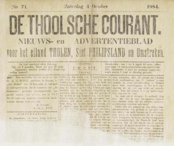 Ierseksche en Thoolsche Courant 1884-10-04