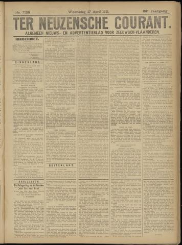 Ter Neuzensche Courant. Algemeen Nieuws- en Advertentieblad voor Zeeuwsch-Vlaanderen / Neuzensche Courant ... (idem) / (Algemeen) nieuws en advertentieblad voor Zeeuwsch-Vlaanderen 1921-04-27