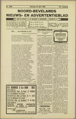 Noord-Bevelands Nieuws- en advertentieblad 1938-04-30