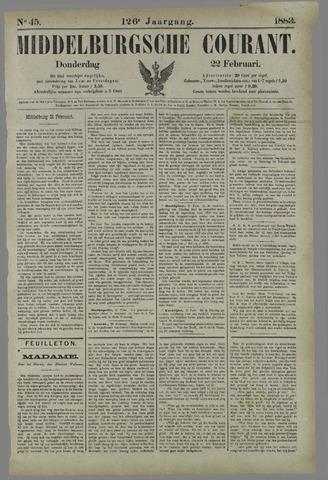 Middelburgsche Courant 1883-02-22