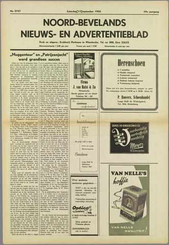 Noord-Bevelands Nieuws- en advertentieblad 1955-09-17