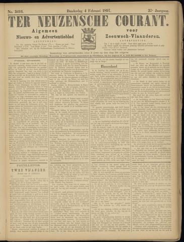 Ter Neuzensche Courant. Algemeen Nieuws- en Advertentieblad voor Zeeuwsch-Vlaanderen / Neuzensche Courant ... (idem) / (Algemeen) nieuws en advertentieblad voor Zeeuwsch-Vlaanderen 1897-02-04