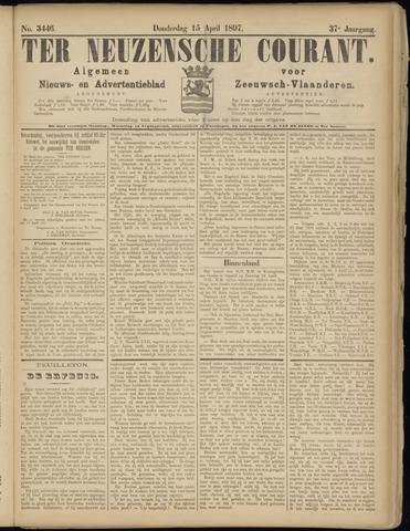 Ter Neuzensche Courant. Algemeen Nieuws- en Advertentieblad voor Zeeuwsch-Vlaanderen / Neuzensche Courant ... (idem) / (Algemeen) nieuws en advertentieblad voor Zeeuwsch-Vlaanderen 1897-04-15
