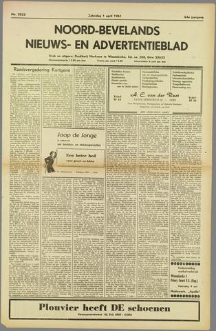 Noord-Bevelands Nieuws- en advertentieblad 1961-04-01