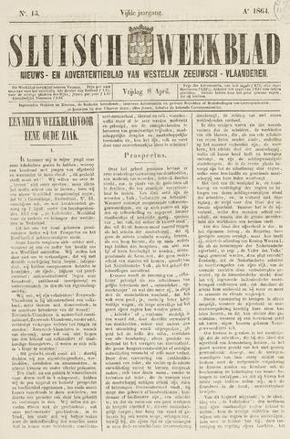 Sluisch Weekblad. Nieuws- en advertentieblad voor Westelijk Zeeuwsch-Vlaanderen 1864-04-08