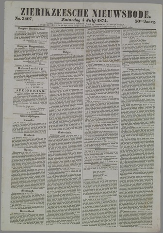 Zierikzeesche Nieuwsbode 1874-07-04