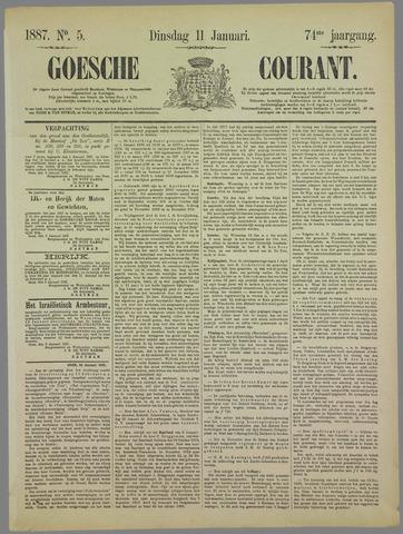 Goessche Courant 1887-01-11