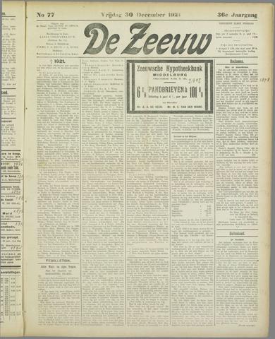 De Zeeuw. Christelijk-historisch nieuwsblad voor Zeeland 1921-12-30